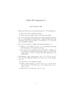 Math 220 Assignment 8 Due November 18th