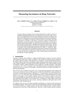 Measuring Invariances in Deep Networks Abstract