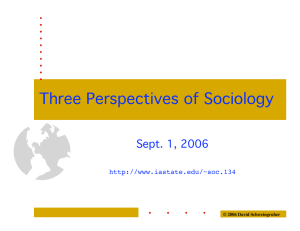 Three Perspectives of Sociology Sept. 1, 2006  © 2006 David Schweingruber