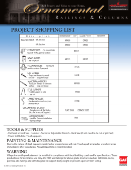 PROJECT SHOPPING LIST ® CR425 MR450