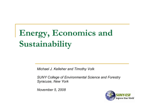 Energy, Economics and Sustainability