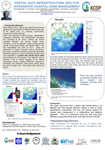 SPATIAL DATA INFRASTRUCTURE (SDI) FOR INTEGRATED COASTAL ZONE MANAGEMENT