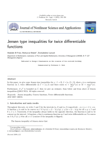 Jensen type inequalities for twice differentiable functions Abdallah El Frissi, Benharrat Bela¨ıdi