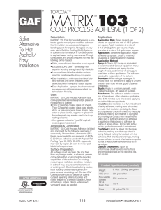 Olybond 500 Green Insulation Adhesive Data Sheet Updated