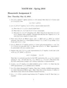 MATH 656 - Spring 2016 Homework Assignment 3