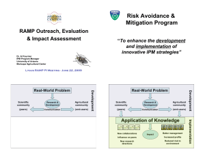 Risk Avoidance & Mitigation Program RAMP Outreach, Evaluation & Impact Assessment