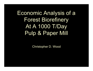 Economic Analysis of a Forest Biorefinery At A 1000 T/Day