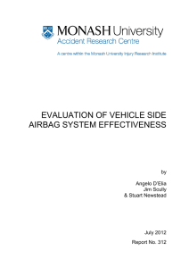 EVALUATION OF VEHICLE SIDE AIRBAG SYSTEM EFFECTIVENESS by