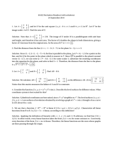 18.022 Recitation Handout (with solutions) 24 September 2014 µ ¶