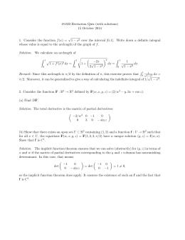 18.022 Recitation Quiz (with solutions) 15 October 2014 √