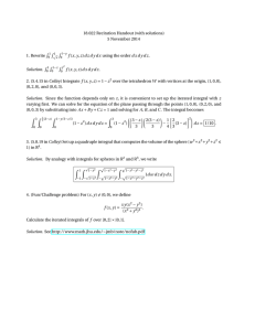 18.022 Recitation Handout (with solutions) 5 November 2014 R 1. Rewrite