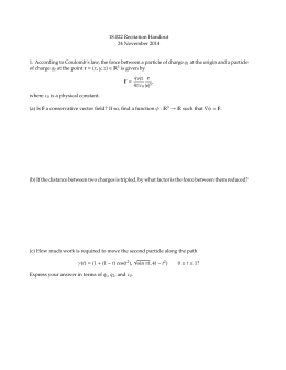 Math 101 – SOLUTIONS TO WORKSHEET 5 INDEFINITE INTEGRALS ´