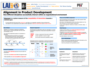 Alignment in Product Development name: research group: