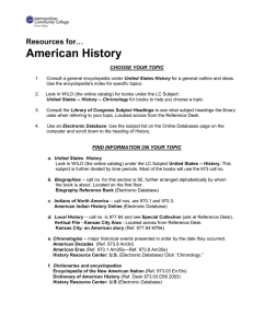 American History Resources for…  CHOOSE YOUR TOPIC