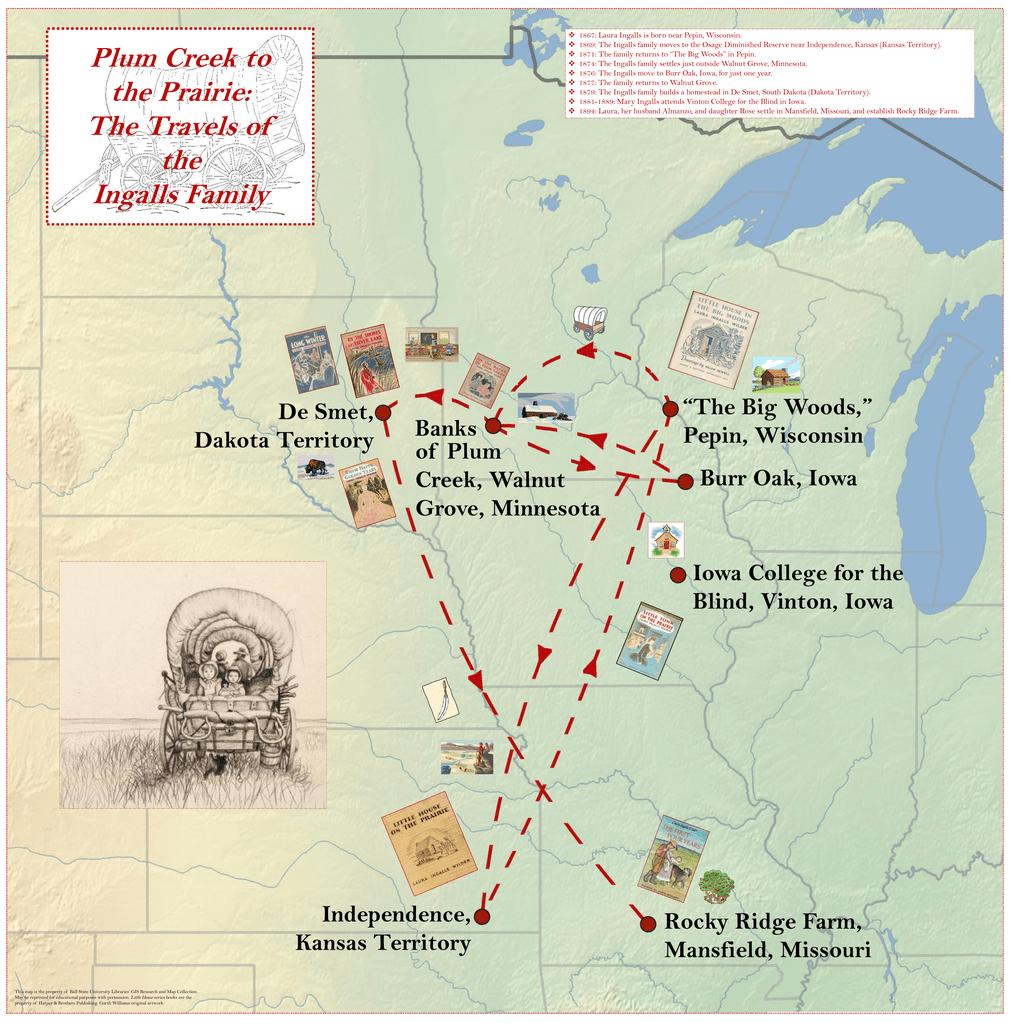 1867 Laura Ingalls Is Born Near Pepin Wisconsin