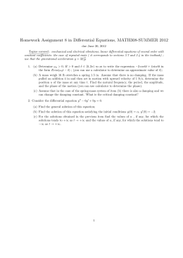 Homework Assignment 8 in Differential Equations, MATH308-SUMMER 2012