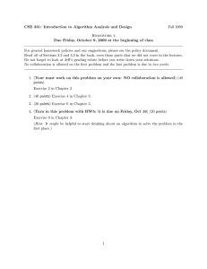 CSE 331: Introduction to Algorithm Analysis and Design Fall 2009 Homework 4