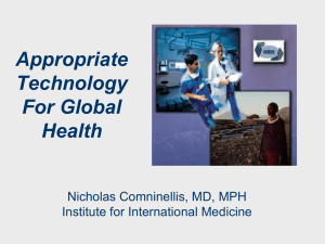 Appropriate Technology For Global Health