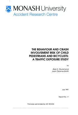 THE BEHAVIOUR AND CRASH INVOLVEMENT RISK OF CHILD PEDESTRIANS AND BICYCLISTS: