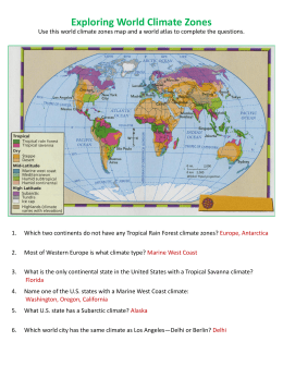 South America Map and Review Worksheet