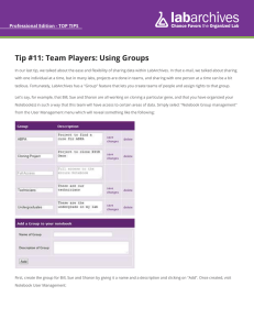 Tip #11: Team Players: Using Groups