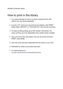 How to print in the library