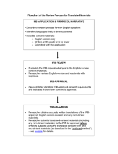 Flowchart of the Review Process for Translated Materials