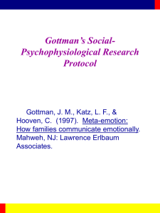 Gottman's Social- Psychophysiological Research Protocol