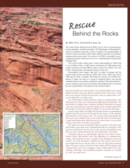 R cue Behind the Rocks Special Section By Mike Price, Entrada/San Juan, Inc.