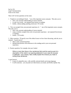 Sp Cm 324 Legal Communication Exam review sheet