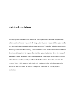 restricted relativisms