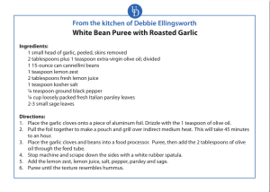 White Bean Puree with Roasted Garlic