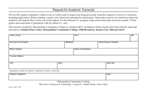 Request for Academic Transcript
