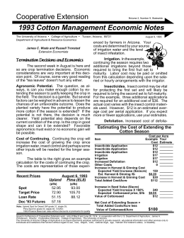 Cooperative Extension 1993 Cotton Management Economic Notes