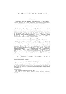 Mem. Differential Equations Math. Phys. 31(2004), 145–148 I. Ramishvili
