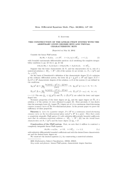 Mem. Differential Equations Math. Phys. 32(2004), 147–150 E. Krupchik