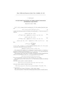 Mem. Differential Equations Math. Phys. 32(2004), 151–153 T. Kiguradze