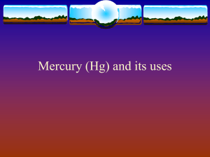 Mercury (Hg) and its uses