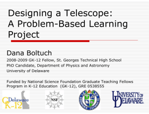 Designing a Te elescope: A Problem-Bas ed Learning