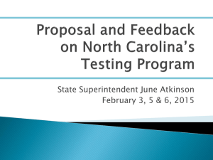 State Superintendent June Atkinson February 3, 5 & 6, 2015