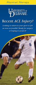 ACL Injury Looking to return to your sport or job