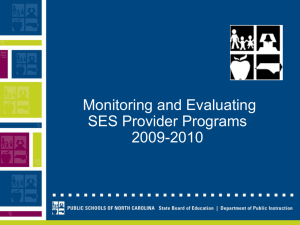 Monitoring and Evaluating SES Provider Programs 2009-2010