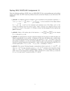 Spring 2012 MATLAB Assignment 11