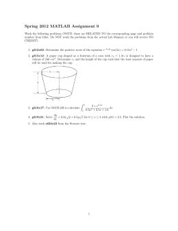 Spring 2012 MATLAB Assignment 9