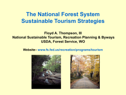 The National Forest System Sustainable Tourism Strategies