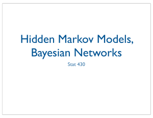 Hidden Markov Models, Bayesian Networks Stat 430