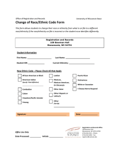 Change of Race/Ethnic Code Form