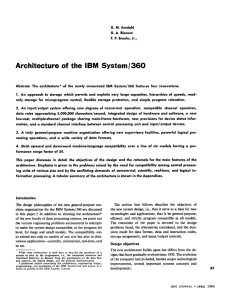 Architecture of the IBM System/360