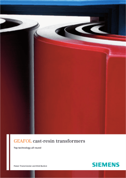 GEAFOL cast-resin transformers Top technology all round 3