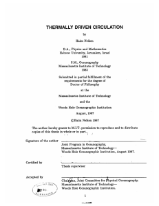 THERMALLY  DRIVEN  CIRCULATION